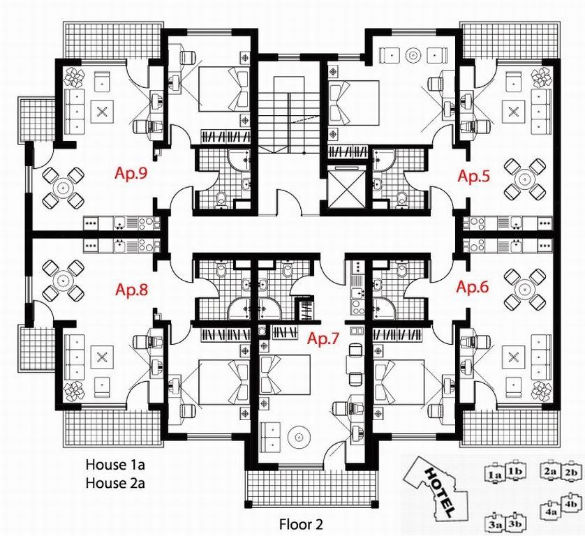 2 Bedroom Apartment Building Floor Plans