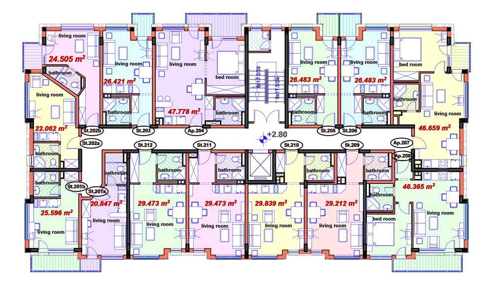 Availability and prices snow spirit complex apartments for Apartment complex floor plans