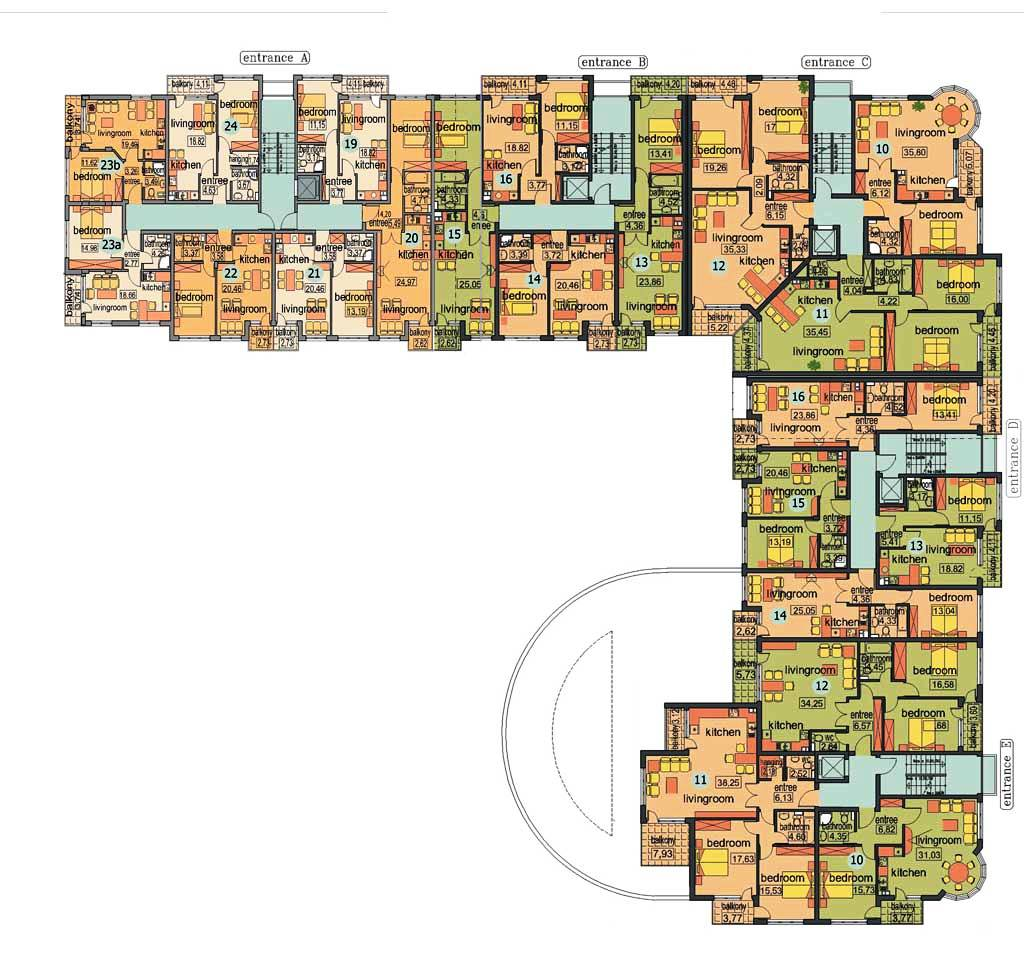 Availability and prices nessebar apartments complex and for Apartment complex floor plans