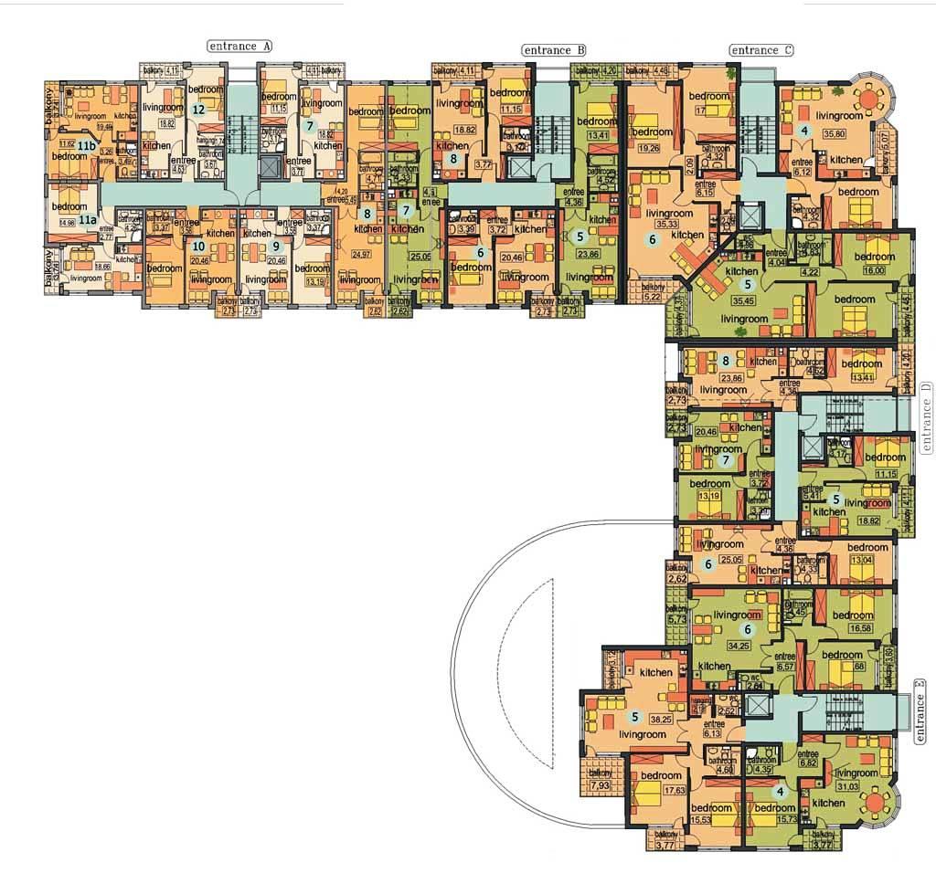 28 Apartment Complex Floor Plans 24 Amazing Small